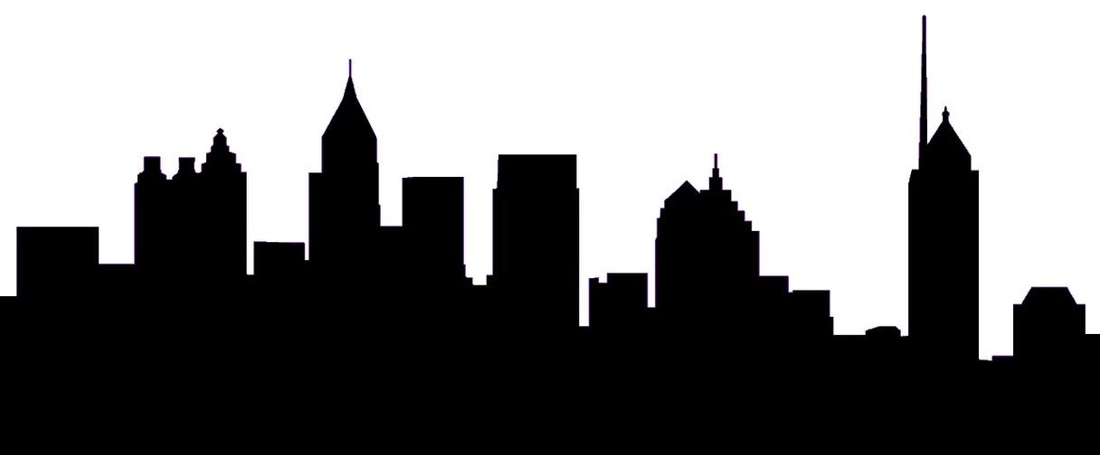 1216x504 Atlanta Skyline Vector Image Group