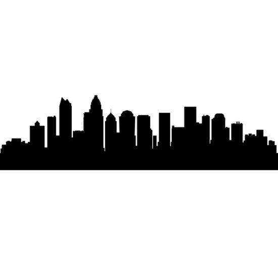 550x550 Stickers For Louisville Skyline Wall Sticker