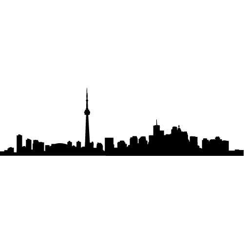 501x501 Toronto Skyline Silhouette Large Vinyl Wall Decal By Wallstickz