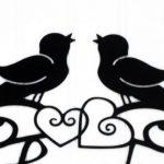 150x150 Wall Art Decor Ideas Vinyl Decals Bird Silhouette Wall Art