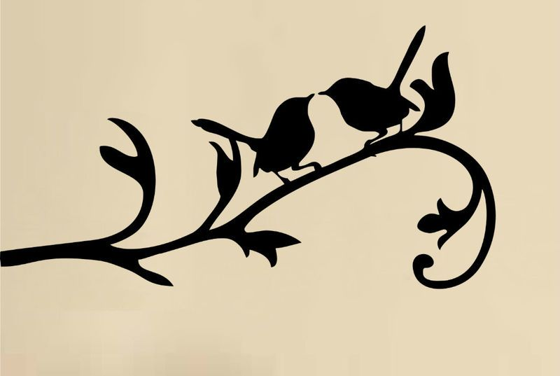 800x537 Love Birds Might Steal This Silhouette For A Painting! Craft