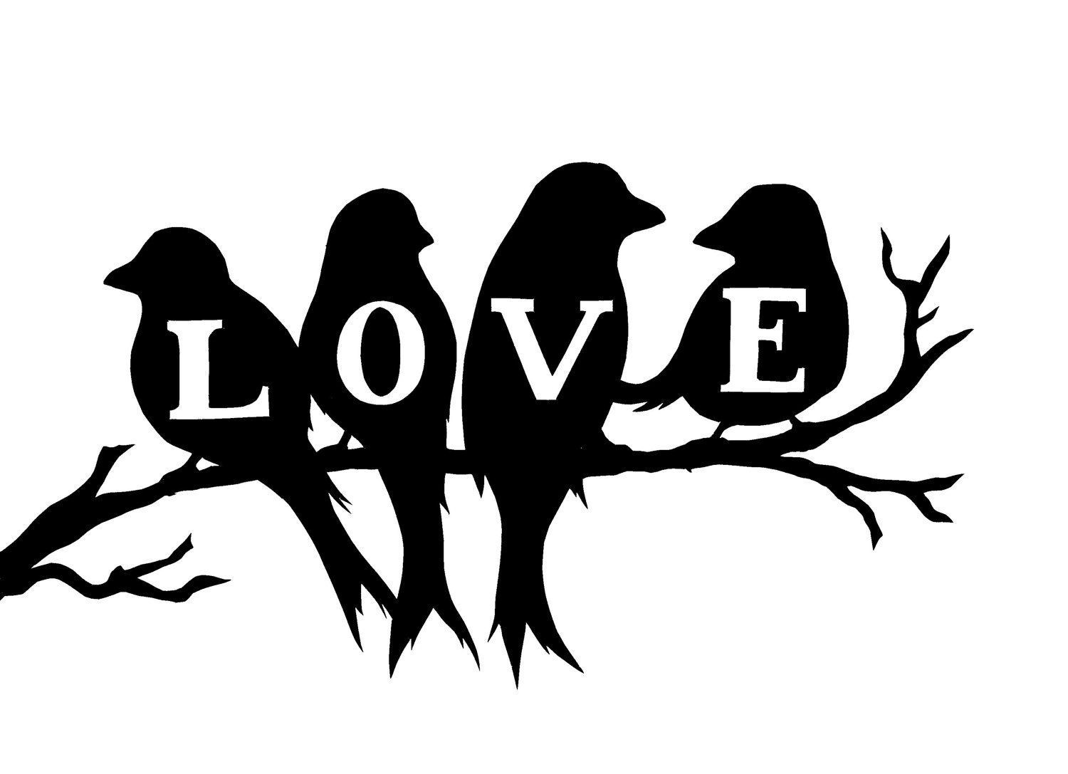 1500x1087 Love Birds Silhouette Silhouettes, Bird And Freezer Paper Stenciling