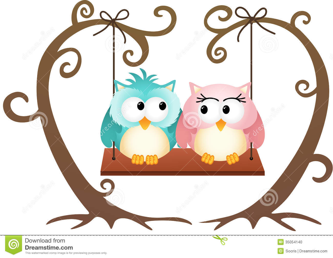 1300x1008 Clipart Of Love Birds On A Tree Branch With A Swing Collection