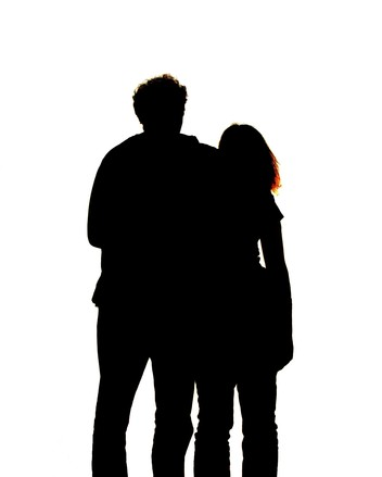 352x439 Free Couple Silhouette Stock Photo