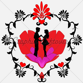 325x325 Loving Couple Gl Stock Images