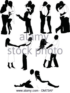 300x394 Couple Kissing Wedding Romantic Outline Stock Vector Art