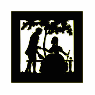 307x307 Couple Silhouette Photo Statuettes, Cutouts Amp Sculptures Zazzle