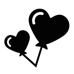 255x255 Balloons Heart Silhouette Silhouette Of Balloons Heart