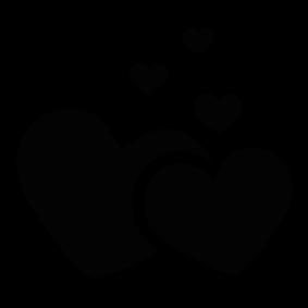 283x283 Love Hearts Silhouette Silhouette Of Love Hearts