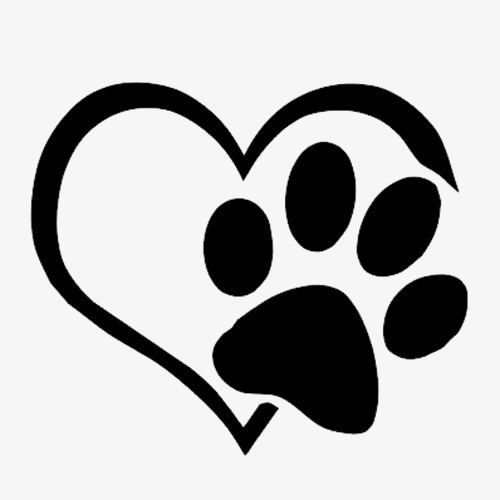 500x500 Love Paws, Creative Love, Black Love, Love Silhouette Png Image
