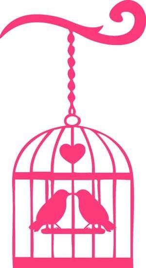 300x549 Vogeltjes In Kooi Silhouette Birds In Cage Image Silhouette Do