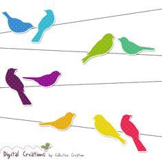 236x236 Birds On A Wire Silhouette Clip Art