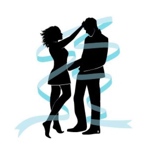 626x626 Lovers Silhouettes Vector Vector Free Download