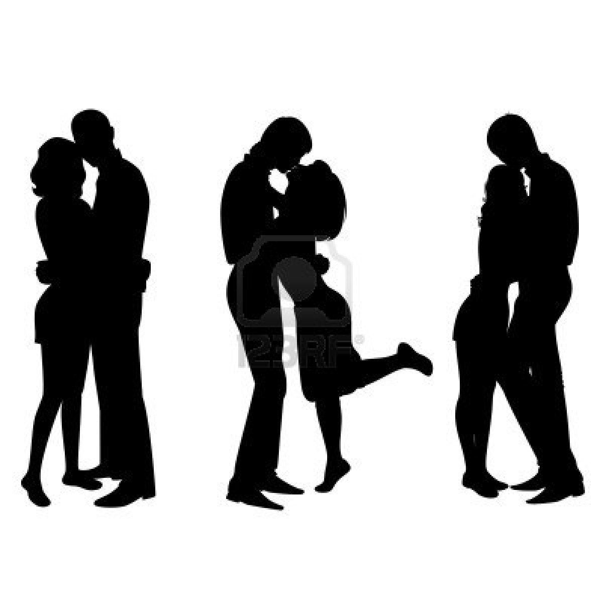 1200x1200 Silhouette Of Lovers Stock Photo