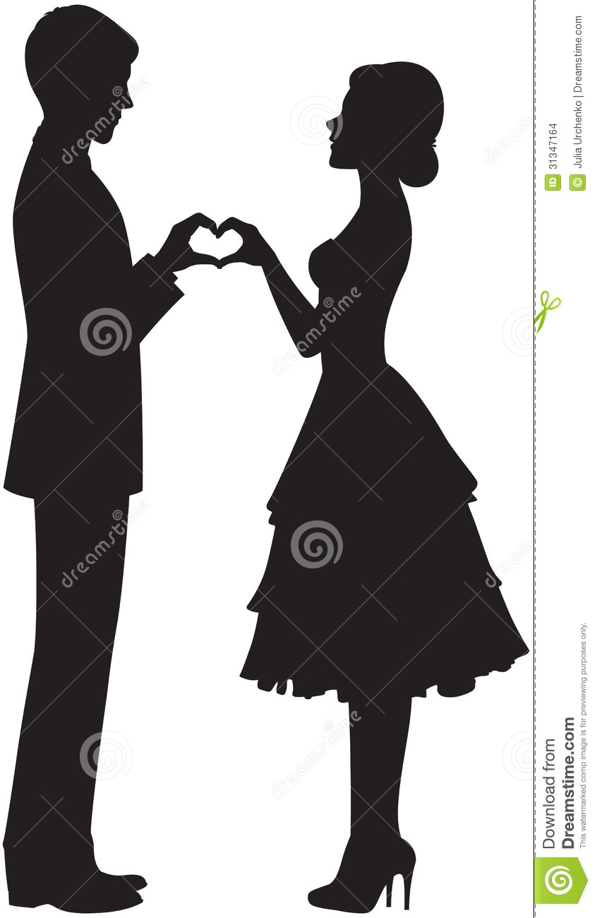846x1300 Bride And Groom Silhouette Clipart