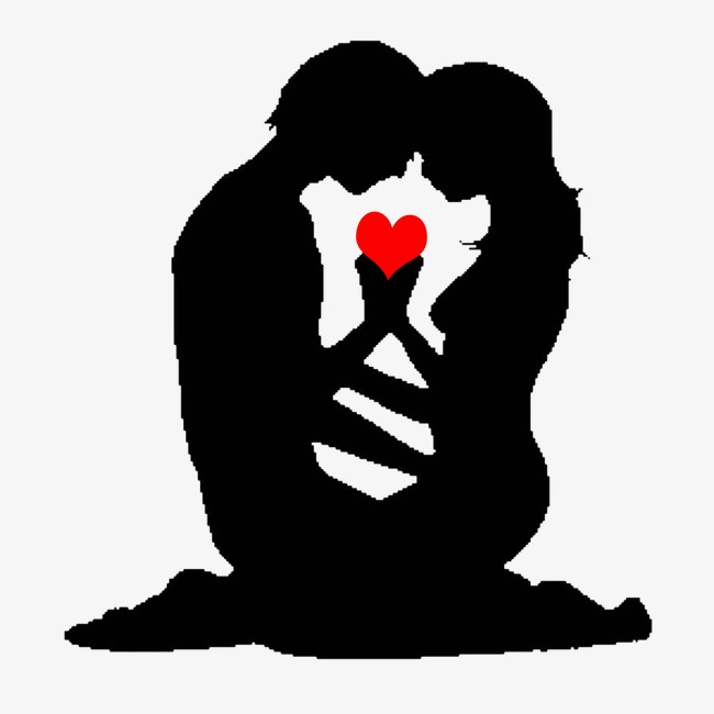 650x650 Couple Silhouette, Lovers, Sketch, Heart Png Image And Clipart