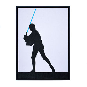 300x300 New Star Wars Luke Skywalker Silhouette Framed Print By Bespoke