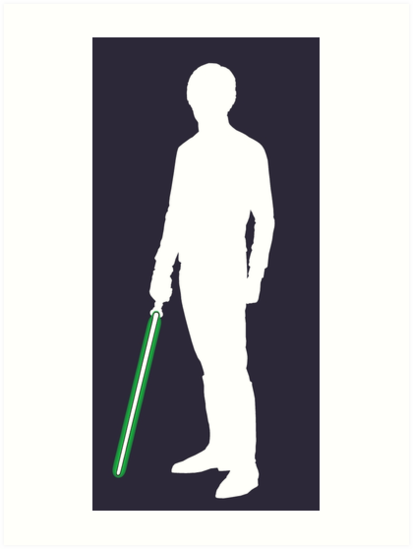 413x549 Star Wars Luke Skywalker White Art Prints By Fn2187 Redbubble