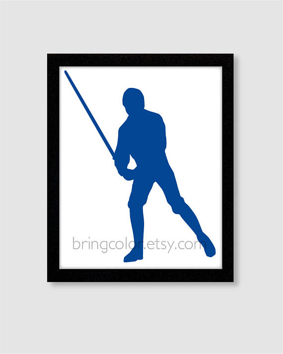 570x713 Items Similar To Star Wars Luke Skywalker Silhouette Wall Art