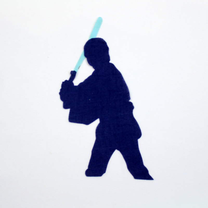 800x800 Luke Skywalker Iron On Applique For Onesie, T Shirt, Bib, Blanket