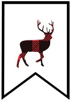 236x338 Buffalo Plaid Moose, Lumberjack Style, Red Black Postcard Sub