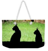170x180 Silhouette Of Two Lynx Sitting In Profile Canvas Print Canvas