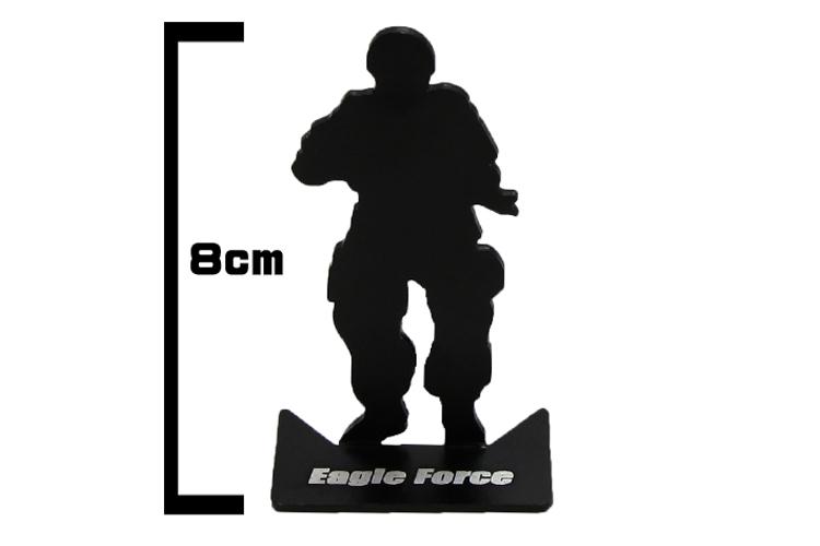 750x500 Eagle Force Aluminum Modified Silhouette Target (6pcs Set