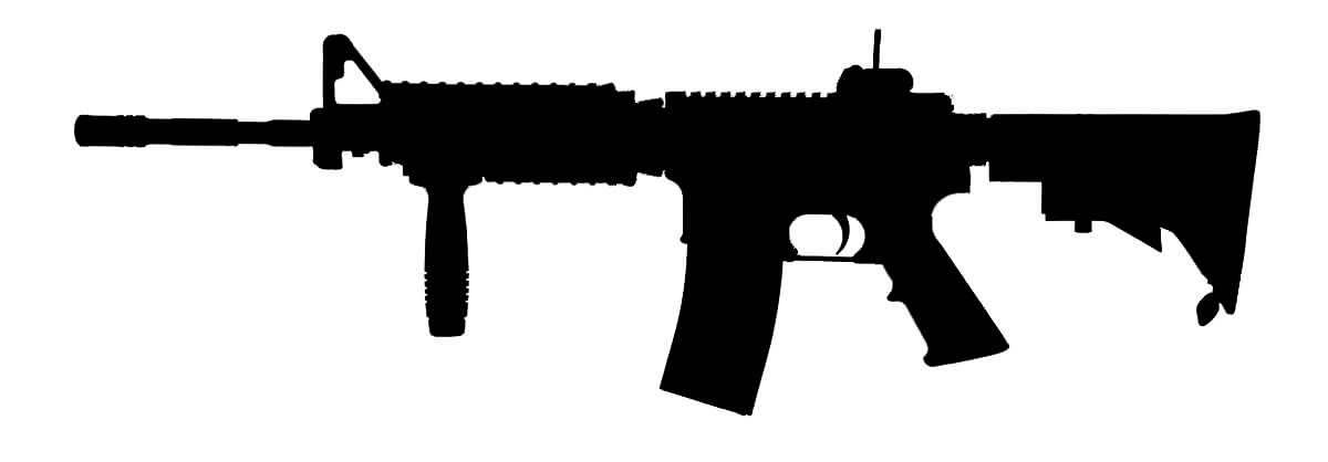 m4 silhouette at getdrawings com free for personal use rifle clip art transparent rifle clipart images