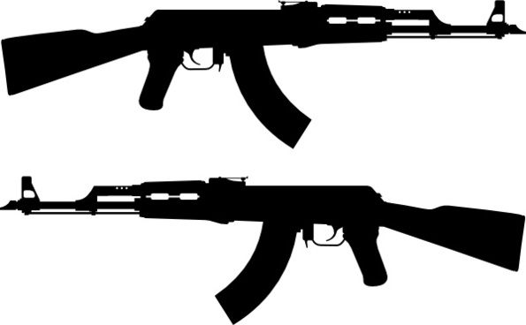 595x368 Ak 47 Vector Free Vector Download (63 Free Vector) For Commercial
