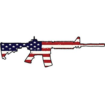350x350 Ar15 M4 Rifle With Sight Scope Silhouette Vinyl Decal