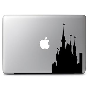 300x300 Disney Castle Silhouette Decal Sticker For Macbook Air Pro 11 13