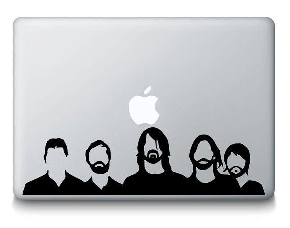 570x448 Foo Fighters Inspired Band Silhouette Music Macbook Laptop Decal