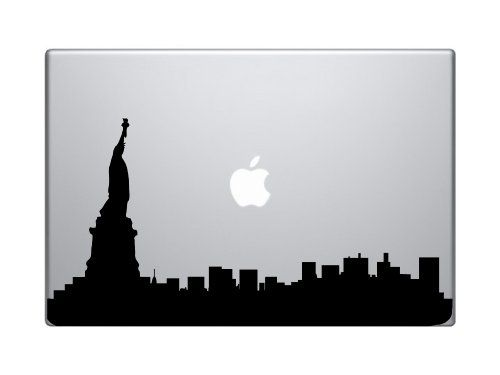 500x375 Statue Of Liberty Silhouette Of New York City Macbook Ipad Decal