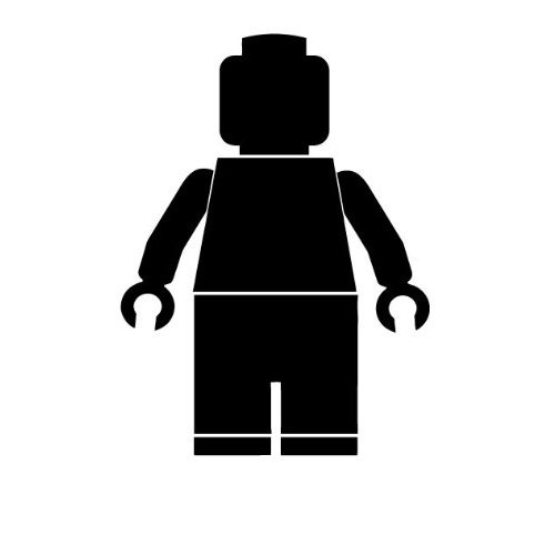 500x500 Lego Man Silhouette