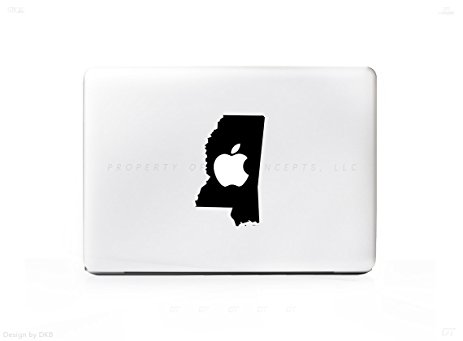 463x341 Mississippi Ms State Outline Silhouette Sticker Decal
