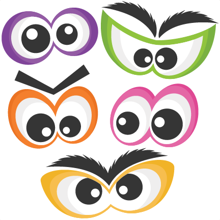 432x432 Halloween Spooky Eye Set Svg Scrapbook Cut File Cute Clipart Files