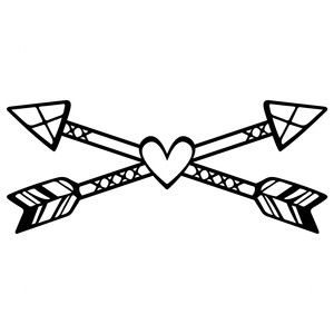 300x300 Silhouette Design Store Tribal Love Arrows Sophie Gallo Design