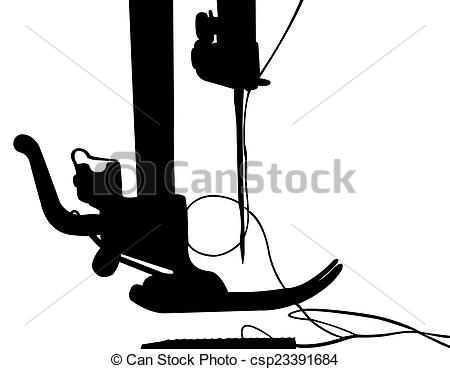 450x369 Silhouette Of The Sewing Machine Pictures