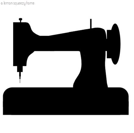 450x448 Sewing Machine Graphic Silhouettes