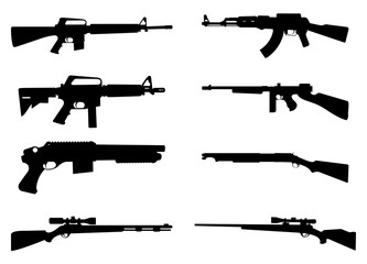 333x240 Gun Rifle Icon Silhouette Black Background