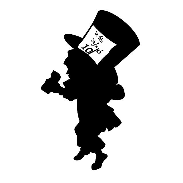 640x640 Mad Hatter Alice In Wonderland Wall Stencil