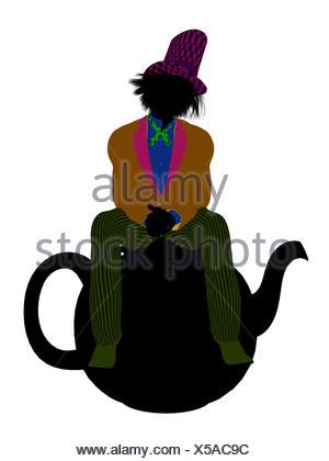 300x420 Madhatter Silhouette Illustration Stock Photo 122559405