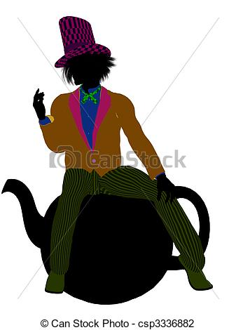 337x470 Madhatter Silhouette Illustration. Madhatter From Allice