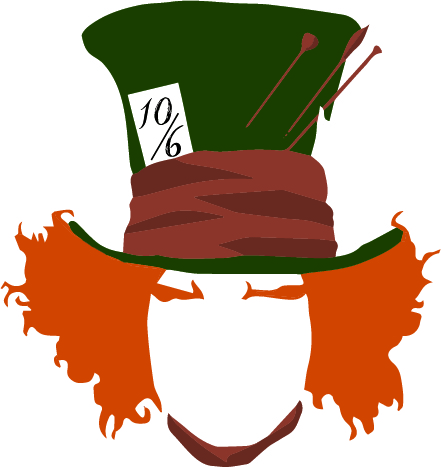 441x467 The'Mad Hatter' Hat Pattern Fortuna Dey Fashion Design