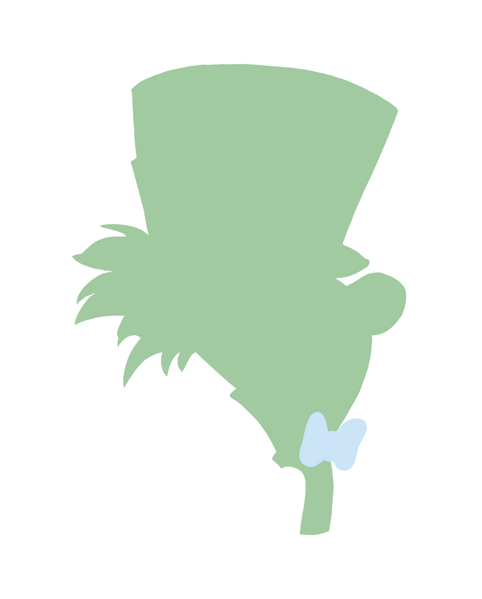 966x1200 The Mad Hatter Silhouette Little Moon Dance Online Store