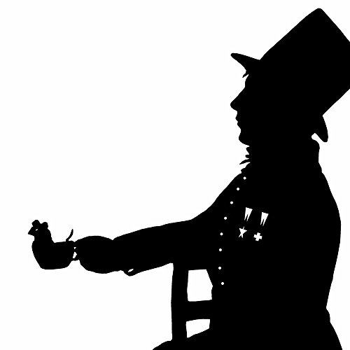 500x500 The Mad Hatter Alice In Wonderland Silhouette Print