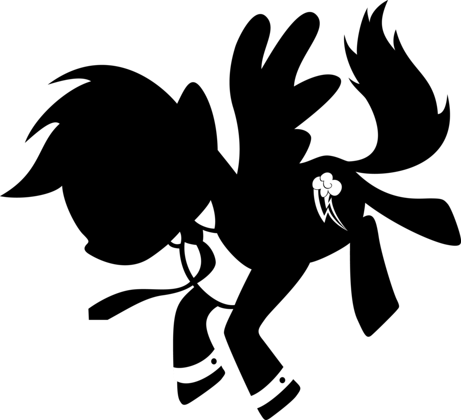 900x819 Mad Dash Silhouette By Pageturner1988