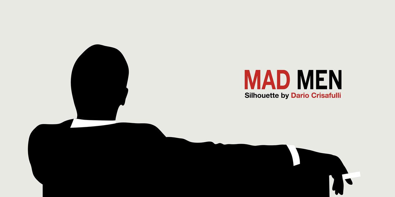 1264x632 Mad Men Silhouette Vector By Dario1crisafulli