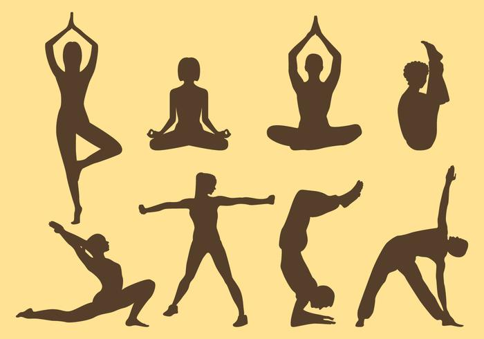 700x490 Woman And Man Yoga Silhouettes