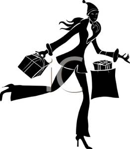 262x300 Silhouette Of A Woman On A Shopping Spree